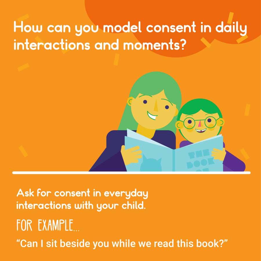 teaching kids consent through modelling it